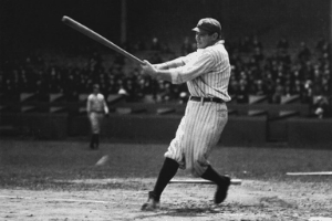 Babe Ruth Swinging