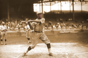 Rogers Hornsby swinging