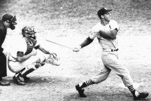 Stan Musial Swinging