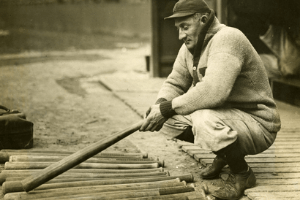 Honus Wagner with bats