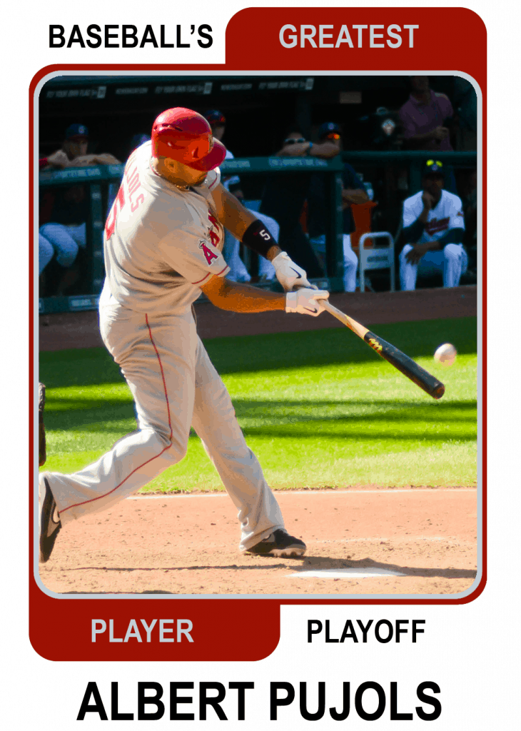 Albert-Pujols-Card Baseballs Greatest Player Playoff