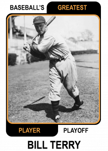 Bill-Terry Baseballs Greatest Player Playoff Card