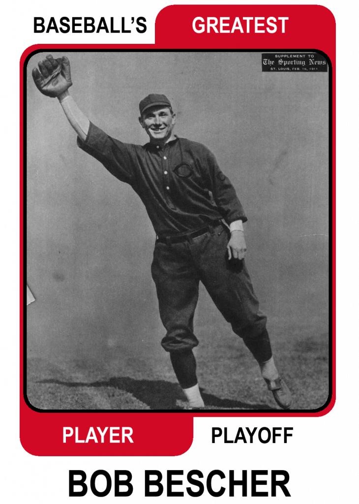 Bob-Bescher Baseballs Greatest Player Playoff Card