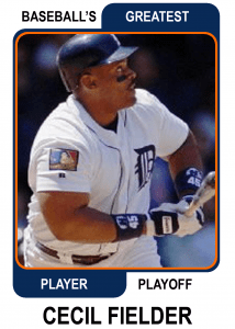 Cecil-Fielder-Card Baseballs Greatest Player Playoff