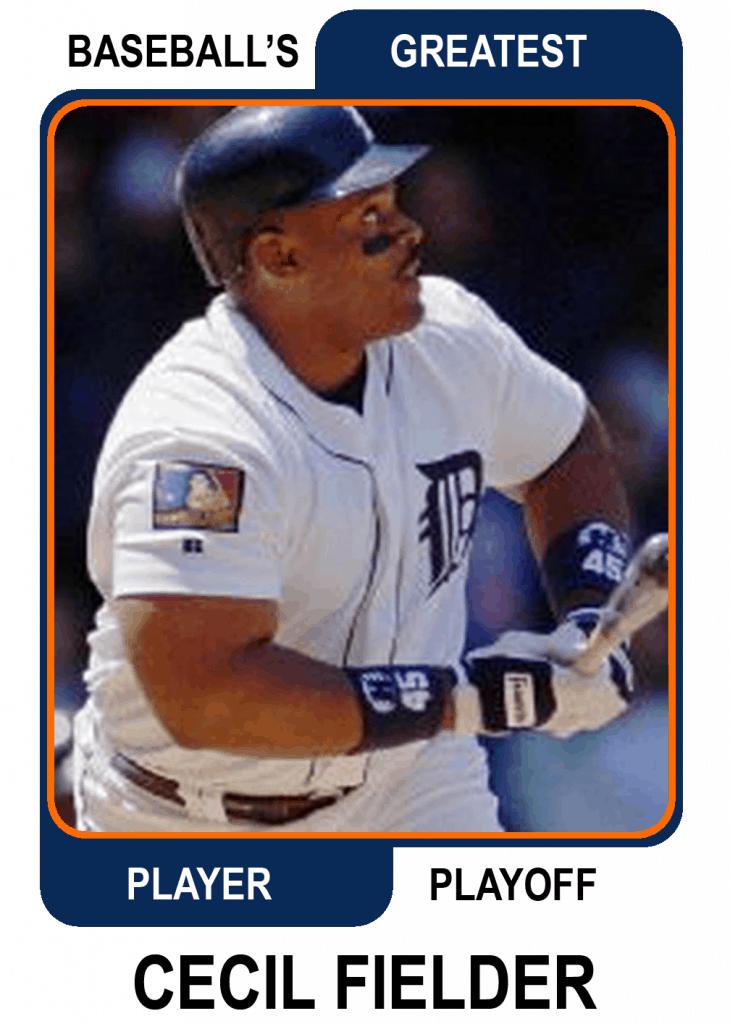 Cecil-Fielder-Card Baseballs Greatest Player Playoff