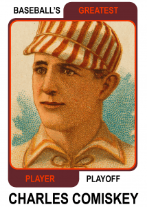 Charles-Comiskey-Card Baseballs Greatest Player Playoff Card