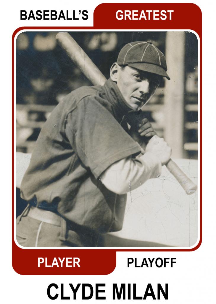 Clyde-Milan-Card Baseballs Greatest Player Playoff