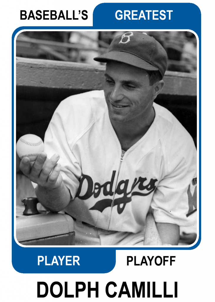 Dolph Camilli -Card Baseballs Greatest Player Playoff