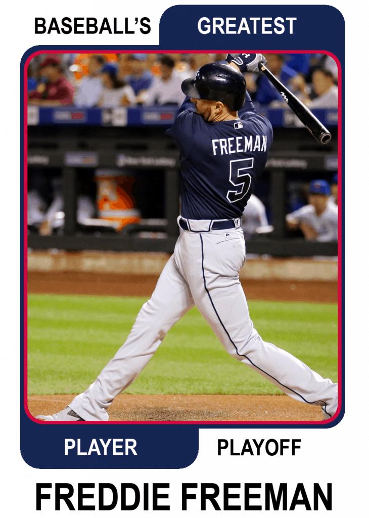 Freddie-Freeman-Card Baseballs Greatest Player Playoff
