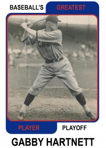 Gabby Hartnett-Card Baseballs Greatest Player Playoff