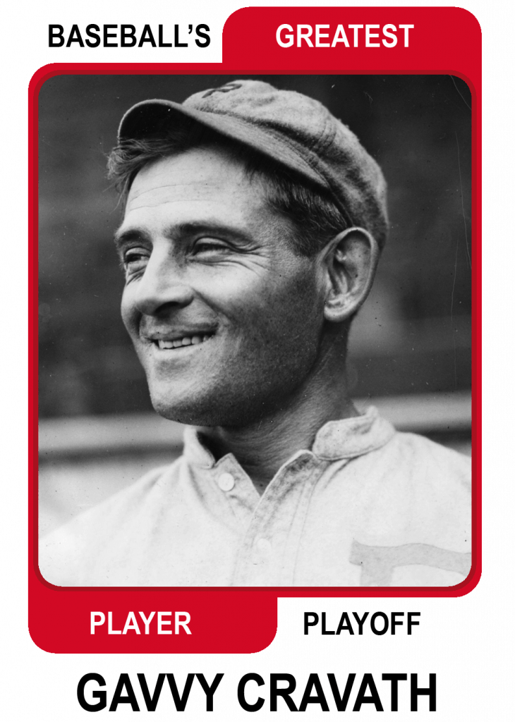 Gavvy-Cravath-Card Baseballs Greatest Player Playoff