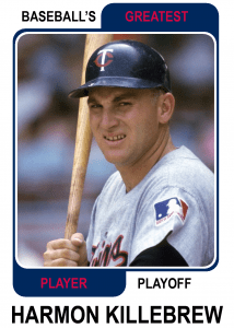 Harmon-Killebrew-Card Baseballs Greatest Player Playoff