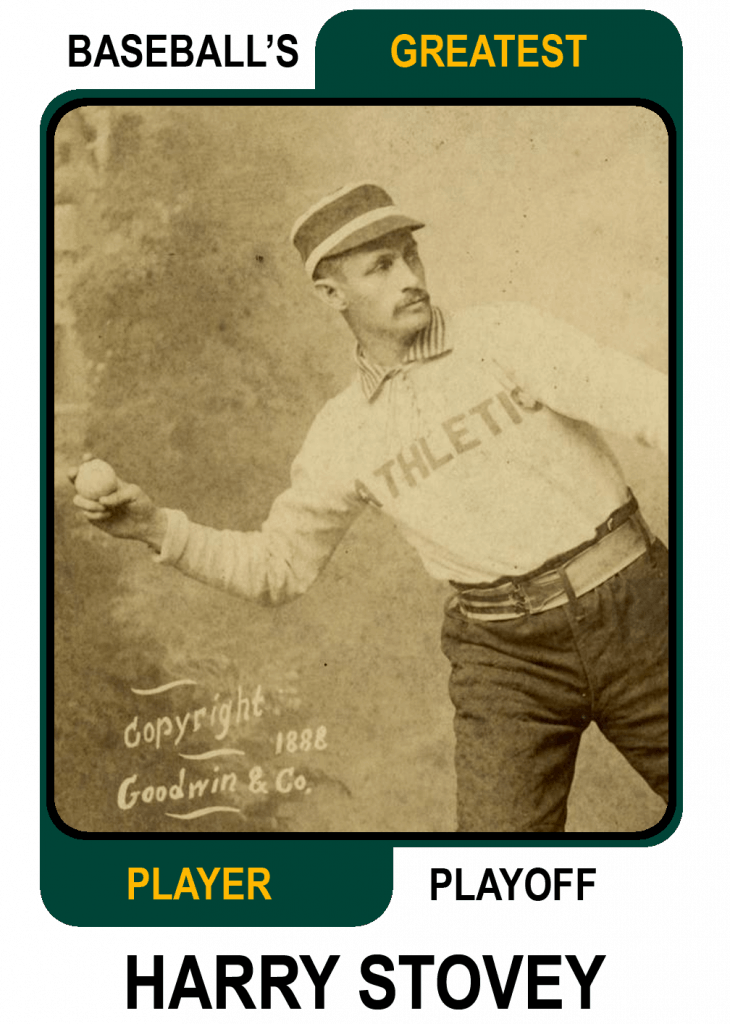 Harry Stovey -Card Baseballs Greatest Player Playoff