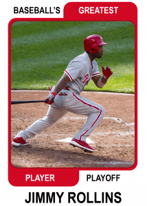 Jimmy-Rollins-Card Baseballs Greatest Player Playoff