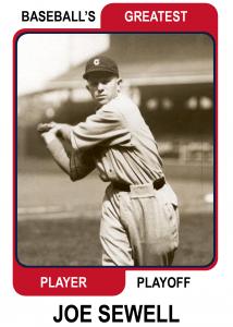 Joe-Sewell-Card Baseballs Greatest Player Playoff