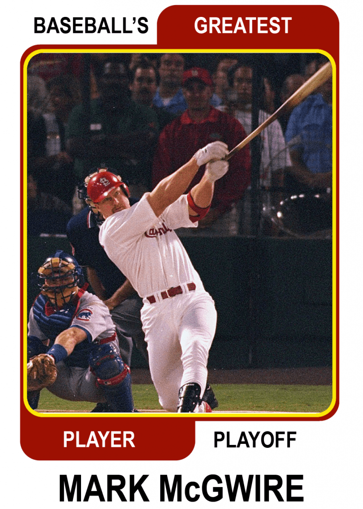 Mark-McGwire-Card Baseballs Greatest Player Playoff Card