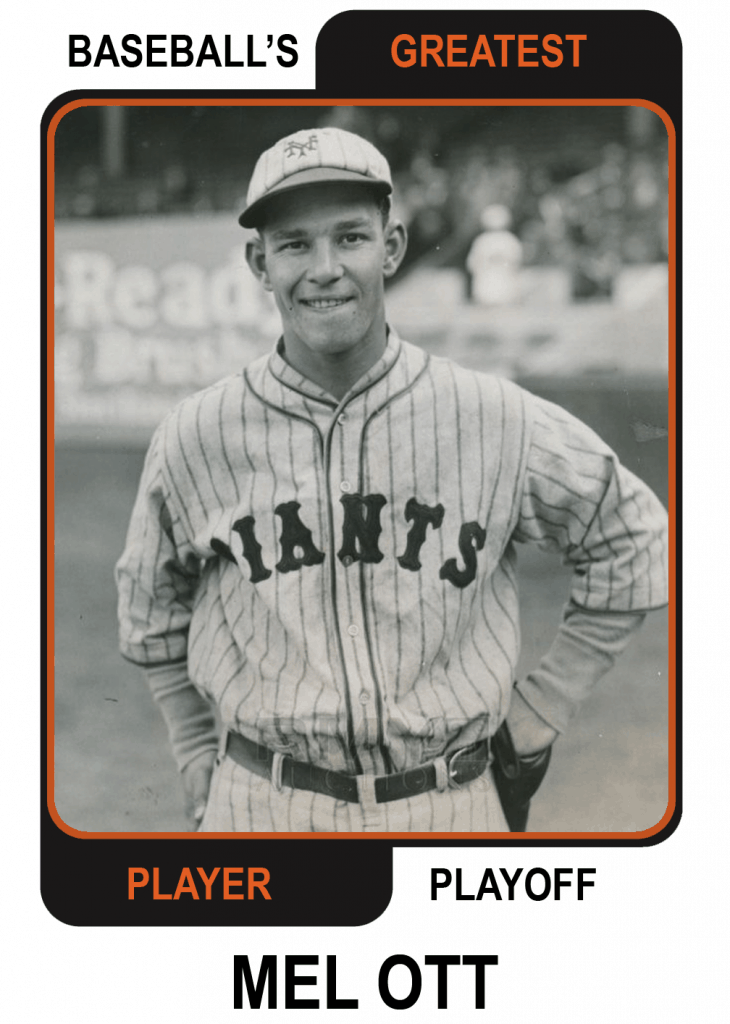 Mel-Ott-Card Baseballs Greatest Player Playoff