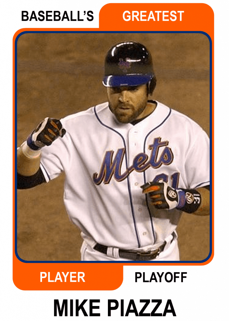 Mike-Piazza-Card Baseballs Greatest Player Playoff