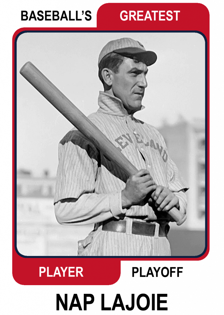 Nap-Lajoie-Card Baseballs Greatest Player Playoff