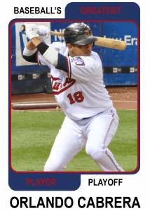 Orlando-Cabrera-Card Baseballs Greatest Player Playoff