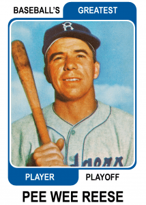 Pee-Wee-Reese-Card Baseballs Greatest Player Playoff Card