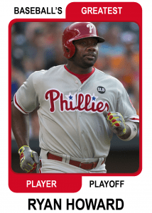 Ryan-Howard-Card Baseballs Greatest Player Playoff