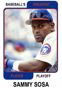 Sammy-Sosa-Card Baseballs Greatest Player Playoff