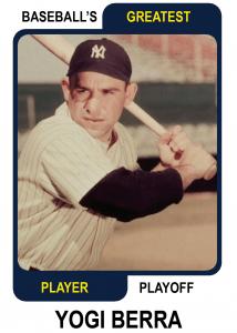 Yogi-Berra-Card Baseballs Greatest Player Playoff