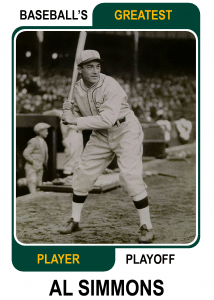 Al-Simmons-Card Baseballs Greatest Player Playoff