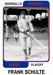 Frank-Schulte-Card Baseballs Greatest Player Playoff