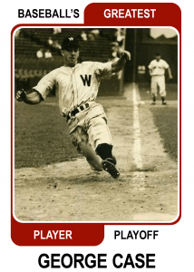 George-Case-Card Baseballs Greatest Player Playoff