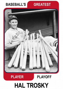 Hal-Trosky-Card Baseballs Greatest Player Playoff Card