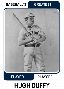 Hugh-Duffy-Card Baseballs Greatest Player Playoff