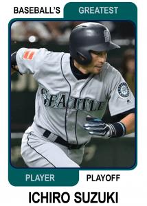 Ichiro-Suzuki-Card Baseballs Greatest Player Playoff