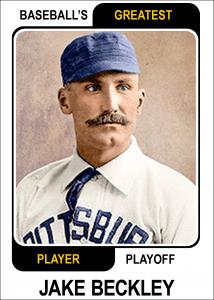Jake-Beckley-Card Baseballs Greatest Player Playoff