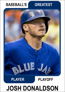 Josh-Donaldson-Card Baseballs Greatest Player Playoff