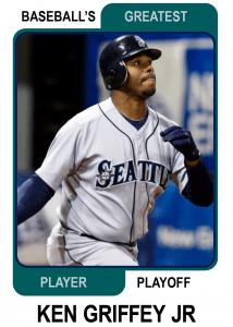 Ken-Griffey-jr-Card Baseballs Greatest Player Playoff