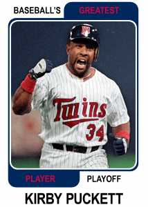 Kirby-Puckett-Card Baseballs Greatest Player Playoff