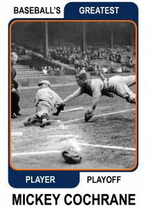 Mickey-Cochrane-Card Baseballs Greatest Player Playoff