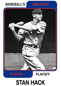 Stan-Hack-Card Baseballs Greatest Player Playoff