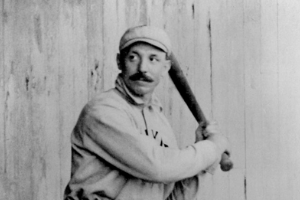 George Davis batting
