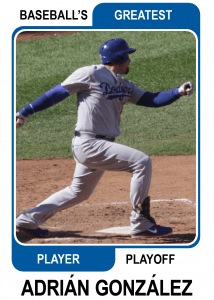 Adrian-Gonzalez-Card Baseballs Greatest Player Playoff