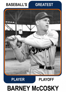 Barney-McCosky-Card Baseballs Greatest Player Playoff