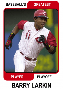 Barry-Larkin-Card Baseballs Greatest Player Playoff
