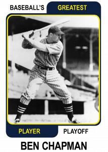 Ben-Chapman-Card Baseballs Greatest Player Playoff