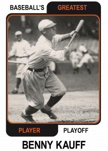 Benny-Kauff-Card Baseballs Greatest Player Playoff