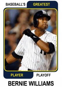 Bernie-Williams-Card Baseballs Greatest Player Playoff