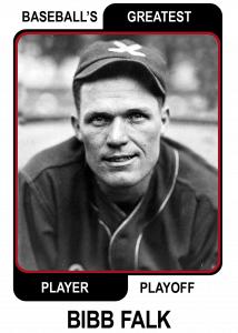 Bibb-Falk-Card Baseballs Greatest Player Playoff