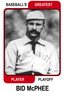 Bid-McPhee-Card Baseballs Greatest Player Playoff