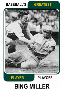 Bing-Miller-Card Baseballs Greatest Player Playoff